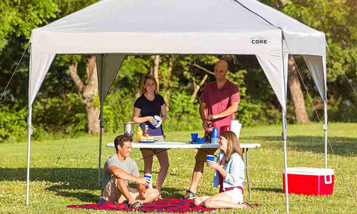 CORE 10′ x 10′ Instant Shelter Pop-Up Canopy Tent with Wheeled Carry Bag, Gray Review 2019